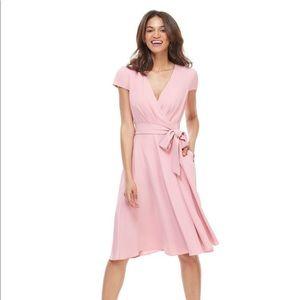 Gal Meets Glam Maxandra Crepe Wrap Dress